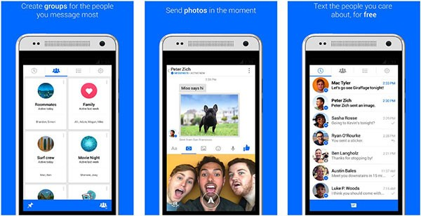 خيار المجموعات للأهل و الأصدقاء تنزيل أحدث نسخة من فيس بوك ماسنجر 2015 Facebook messenger