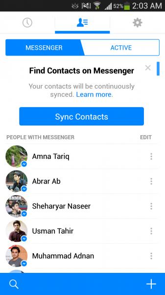 تحميل مسانجر فيس بوك عربي للاندرويد Facebook Messenger 2017