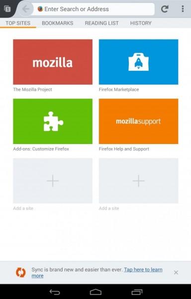 واجهة سهلة الإستخدام بمزايا فريدة تحميل متصفح فايرفوكس Firefox Android عربي apk للاندرويد
