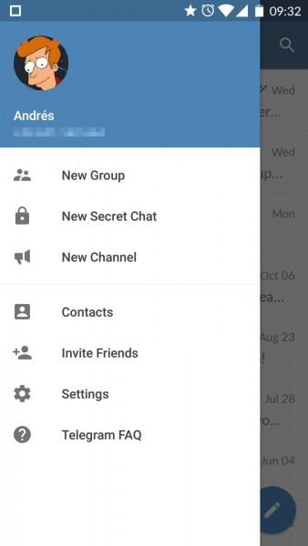 خيارات كثيرة و متعددة  تحميل تلجرام 2015 Telegram للأندرويد