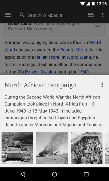 واجهة نظيفة لقراءة واضحة ومريحة تحميل موسوعة ويكيبيديا Wikipedia للأندرويد