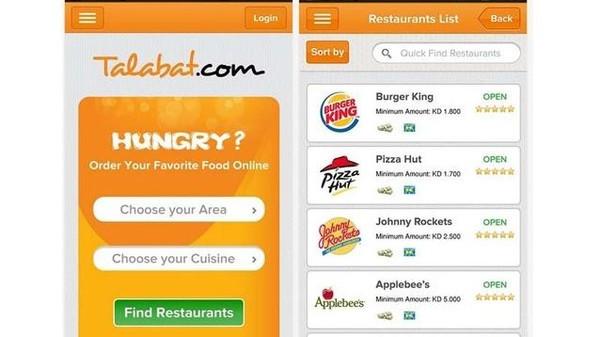 برنامج متصل مع أفضل المطاعم المتاحة تحميل برنامج طلبات كوم Talabat.com للأندرويد