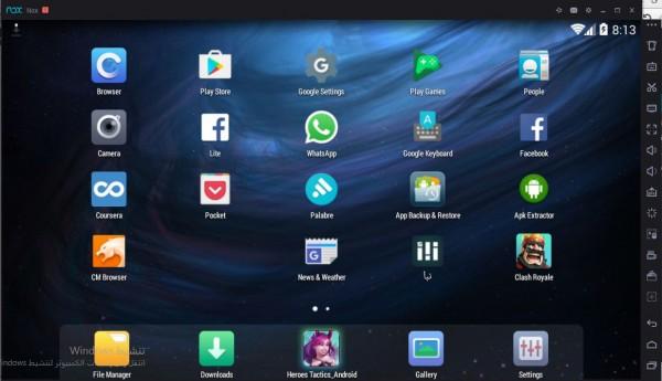 تشغيل تطبيقات الأندرويد على الكمبيوتر Nox APP Player تشغيل تطبيقات الأندرويد على الكمبيوتر Nox APP Player